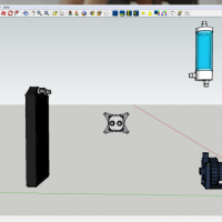 [HowTo] Connect Watercooling Parts Using Tubing in SketchUp